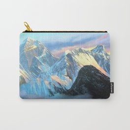 Panoramic Sunrise View Of Everest Mountain Carry-All Pouch