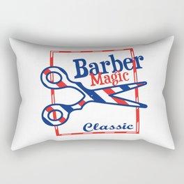 Barber Magic - red, white, blue Rectangular Pillow