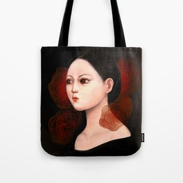She likes to be alone Tote Bag