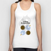 cigarettes Tank Tops featuring Coffee and Cigarettes by justasign