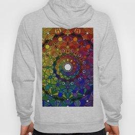 Mandala 46 - Psychedelic Mandala Rainbow series Hoody