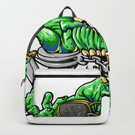 handcuffed zombie cartoon Backpack