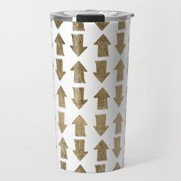 Chic modern faux gold white bohemian arrows pattern Travel Mug
