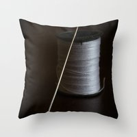 sewing Throw Pillows featuring Sewing 2 by Heartland Photography By SJW