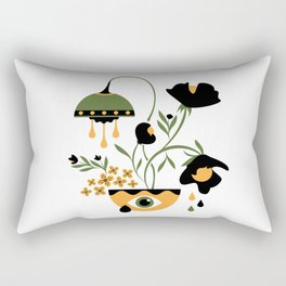 Sad Funky Flowers Rectangular Pillow