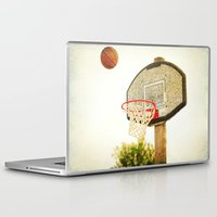 basketball Laptop & iPad Skins featuring Basketball by KimberosePhotography