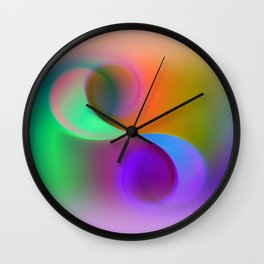 window curtain - colors for your home Wall Clock