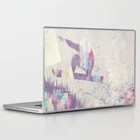 snowboarding Laptop & iPad Skins featuring Explorers IV by HappyMelvin