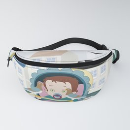 Cart and pigeons Fanny Pack