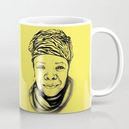 Maya Angelou - (yellow) Sketch to Digital Coffee Mug
