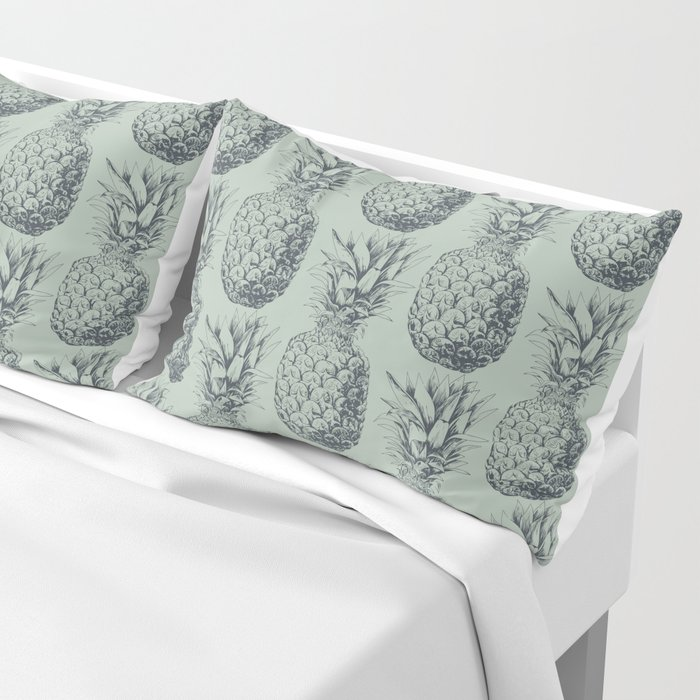 Pineapple, tropical fruit pattern design Pillow Sham