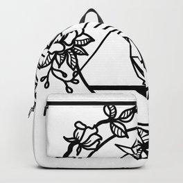 MINIMAL GEOMETRIC BIRD ROSES Backpack
