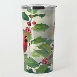 Cardinals on Tree Top Travel Mug