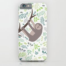 Happy Sloth with Leaves Illsutration Slim Case iPhone 6s
