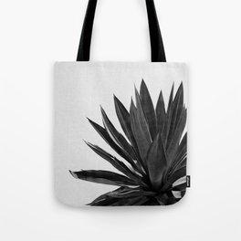 Agave Cactus Black & White Tote Bag