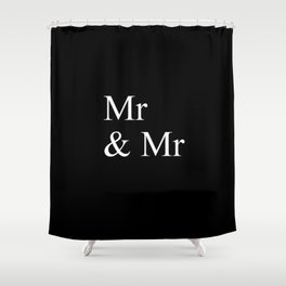 Mr & Mr Monogram standard Shower Curtain
