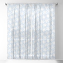 Kawaii Winter Snowflakes Sheer Curtain