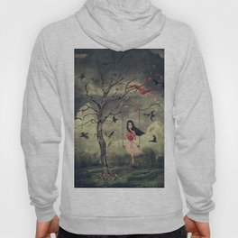 Girl on a swing in the woods Hoody