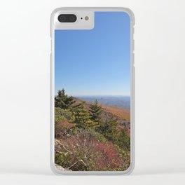 Autumn Alpine Landscape, Vertical Clear iPhone Case