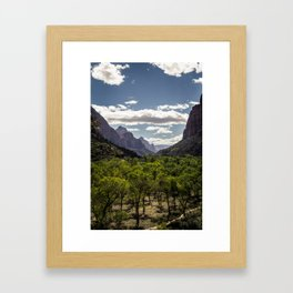 Lush Valley Framed Art Print