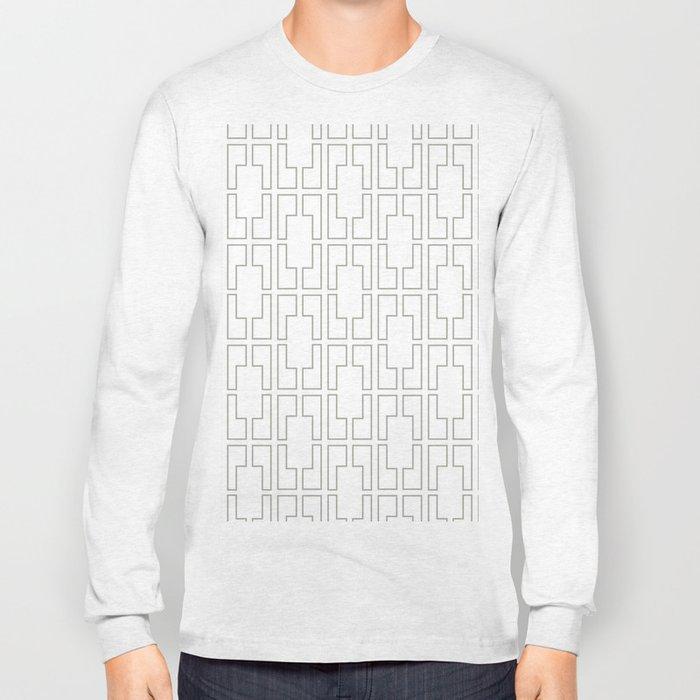 Simply Mid-Century Retro Gray on White Long Sleeve T-shirt