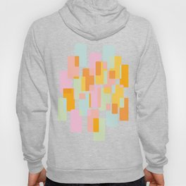 Pastel Geometric Shape Collage Hoody