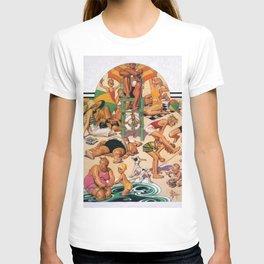 12,000pixel-500dpi - Joseph Christian Leyendecker - Labor Day Beach - Digital Remastered Edition T-shirt