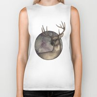 antlers Biker Tanks featuring Antlers by Ericaphant