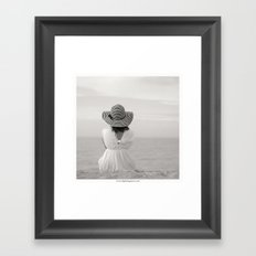 Face à rien Framed Art Print
