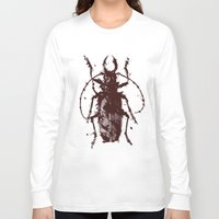 beetle Long Sleeve T-shirts featuring Beetle by Bearded Hunter