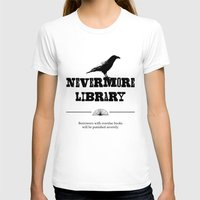 library T-shirts featuring Nevermore Library by Zooky