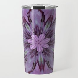 Floral Abstract Of Pink Hydrangea Flowers Travel Mug