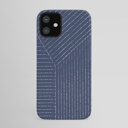Lines (Navy) iPhone Case