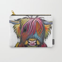 Scottish Highland Cow ' BRaVEHEaRT 2 ' by Shirley MacArthur Carry-All Pouch