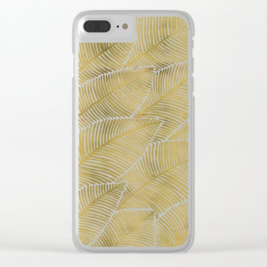 Tropical Gold Clear iPhone Case