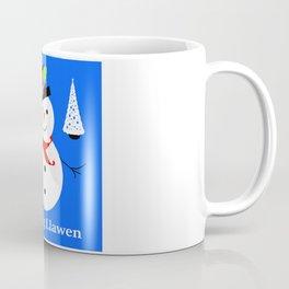 Nadolig Llawen, Merry  Christmas snowman Wales Coffee Mug