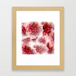 Vivid floral Framed Art Print