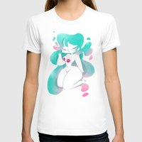 pinup T-shirts featuring Blue pinup by MissPaty