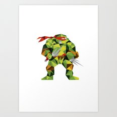 Twin Sai Turtle Art Print