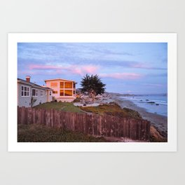 Cayucos Beachfront Art Print