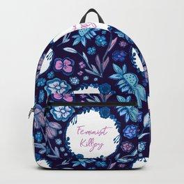 Feminist Killjoy - A Floral Pattern Backpack