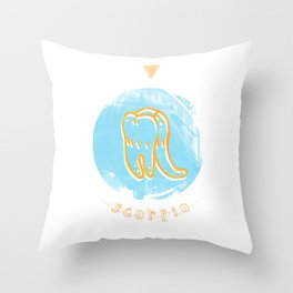 Scorpio - Teeth Zodiac Throw Pillow