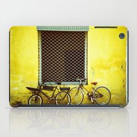 bicycles iPad Cases featuring Bicycles by The Dalai Lomo