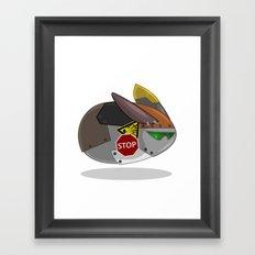 SuperSonic Flying Robot Rabbit 2000 Framed Art Print