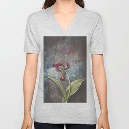 Faded Tulip Unisex V-Neck