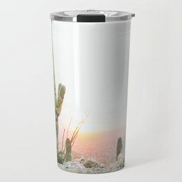 arizona desert print of a saguaro, cactus print, botanical print, cactus wall art Travel Mug