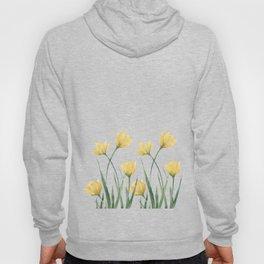 Yellow Woodland Tulips Hoody