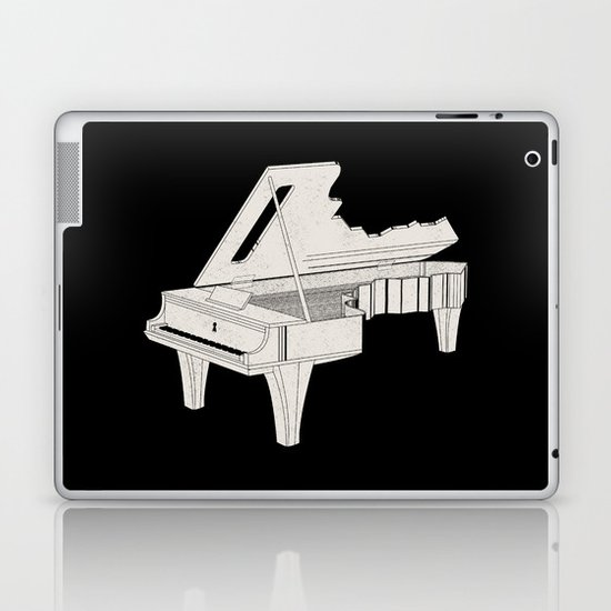Music Is The Key. Laptop & iPad Skin