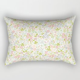 Flowery Garden Rectangular Pillow