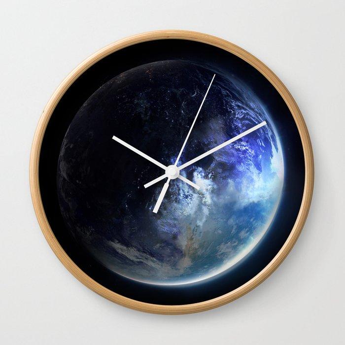 Aquamarine Marble Wall Clock